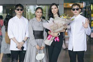 Võ Cảnh, Minh Trung, Ngọc Châu rạng rỡ đón tân Hoa hậu Hoàn vũ Hàn Quốc