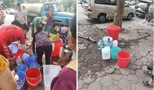 Thiếu nước sạch, hàng vạn người dân Hà Nội khốn đốn lo nước ăn, uống từng bữa