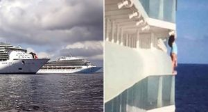 Trèo lan can du thuyền để selfie, người phụ nữ bị cấm suốt đời