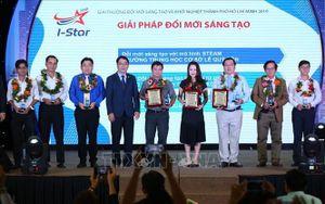 12 tổ chức, cá nhân đạt Giải thưởng Đổi mới sáng tạo và khởi nghiệp Thành phố Hồ Chí Minh 2019