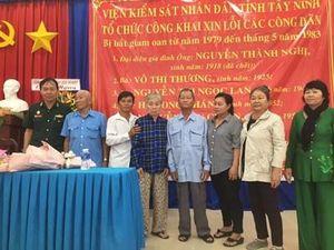 Viện KSND tỉnh Tây Ninh xin lỗi công khai 7 nạn nhân trong vụ án oan sai