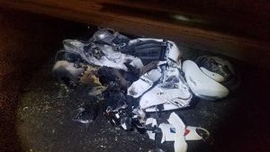 Đồng Nai: Người và xe máy bị xe ben chở đá kéo lê rồi bốc cháy ngùn ngụt