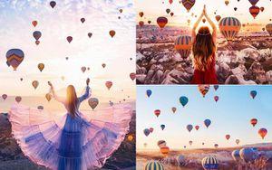 Ai cũng ước được 'lắm tiền' như Vũ Khắc Tiệp để được một lần chiêm ngưỡng khung cảnh khinh khí cầu bay lên đẹp như cổ tích ở Cappadocia