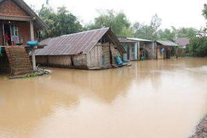 Đắk Lắk: Ảnh hưởng bão Nakri hàng trăm nhà dân chìm trong biển nước