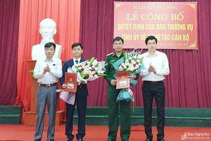 Con Cuông công bố quyết định của BTV Tỉnh ủy về công tác cán bộ