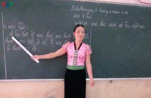 Cô giáo vùng cao miệt mài truyền tiếng nói, chữ viết dân tộc Thái