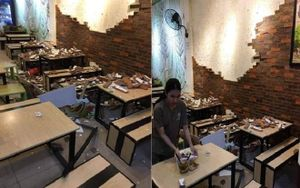 Bức tường trong quán ăn bất ngờ đổ sập, 4 thực khách nhập viện
