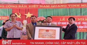 Đón nhận bằng di tích lịch sử cấp tỉnh nhà thờ Nguyễn Đình Liễn