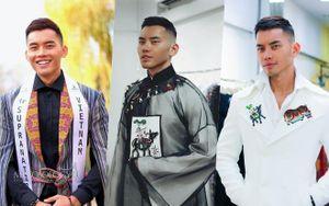 Mạnh Khang ghi điểm với vest thổ cẩm H'Mông, áo in tranh Đông Hồ, hoàn thành tốt phần thi phỏng vấn