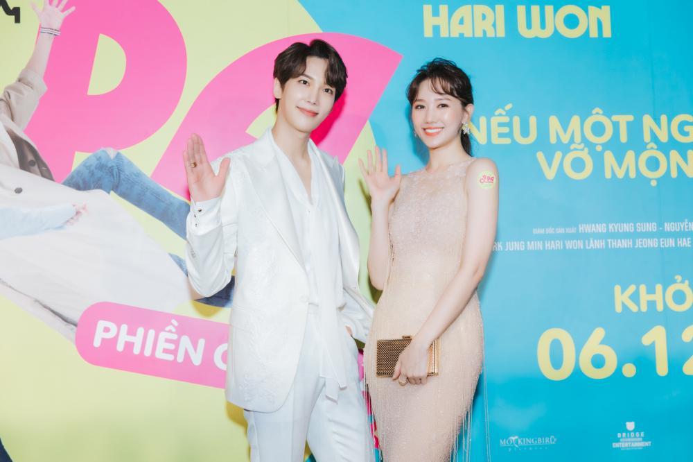 Hari Won có nụ hôn ngọt ngào với trai đẹp Hàn Quốc, Trấn Thành phản ứng ra sao?