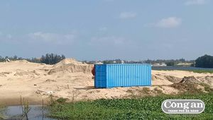 Lợi dụng dự án để khai thác cát trái phép?