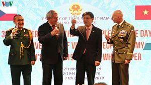 Lễ kỷ niệm 75 năm ngày thành lập Quân đội Nhân dân Việt Nam tại Séc