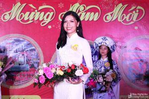 Nữ sinh lớp 11 đạt giải Nhất hội thi Thanh niên thanh lịch huyện Nam Đàn