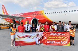 Vietjet nhận thêm tàu bay mới phục vụ khách dịp Tết Canh Tý
