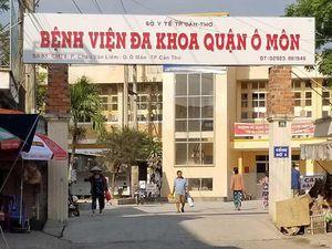 Nhà thầu tự thay gạch lót nền Bệnh viện Ô Môn