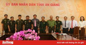 Cục Phát triển, Bộ Quốc phòng Hoàng gia Campuchia chúc Tết tại tỉnh An Giang