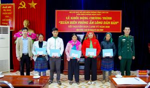 Nhiều hoạt động ý nghĩa trong chương trình 'Xuân Biên phòng ấm lòng dân bản' tại xã Nậm Chảy