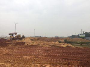Vĩnh Phúc: San gạt mặt bằng Dự án Khu Chợ đầu mối nông sản thực phẩm Vĩnh Tường