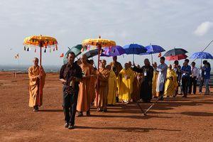 Quảng Ngãi: Đại lễ đặt đá xây dựng chánh điện chùa Minh Đức