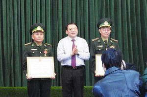Trao tặng Huân chương Chiến công của Chủ tịch nước cho Biên phòng Quảng Trị