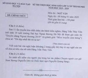 'Đề thi học sinh giỏi Văn lớp 9 của Hà Nội đưa ra yêu cầu hoàn toàn phi lí'