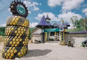Độc đáo công viên lốp xe - Tyres Park
