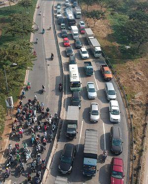 Xử lý kẹt xe đoạn cao tốc TPHCM - Long Thành