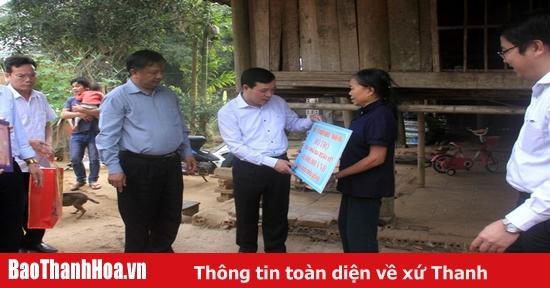 Trưởng Ban Tổ chức Tỉnh ủy Lại Thế Nguyên kiểm tra tình hình sản xuất, đời sống nhân dân tại các huyện Ngọc Lặc, Thọ Xuân