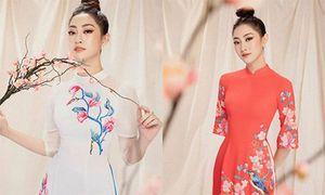 Hoa hậu Lương Thùy Linh diện áo dài 'nịnh dáng', xuân sắc rạng ngời