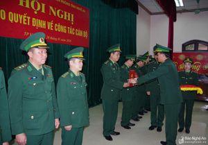 Bộ đội Biên phòng Nghệ An trao 58 quyết định điều động bổ nhiệm cán bộ