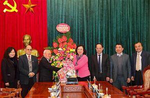 Ủy ban Đoàn kết Công giáo Việt Nam TP chúc Tết Đảng bộ TP Hà Nội