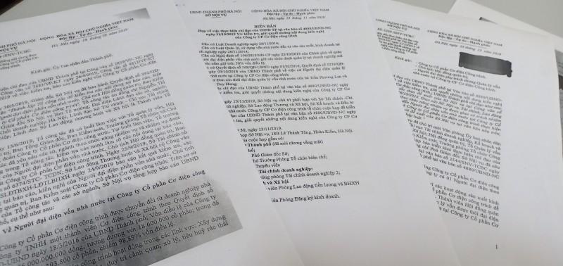 Chủ tịch HĐQT Công ty phớt lờ các văn bản chỉ đạo của Sở Nội vụ Hà Nội