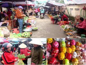 Bình dị chợ quê ngày Tết ở Nghệ An
