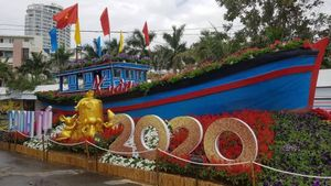 Nha Trang mang thuyền ngư dân vào Hội hoa xuân 2020