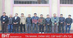 Triệt phá ổ 'xóc đĩa' ở Thạch Hà, bắt giữ 11 đối tượng