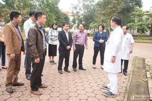 Lãnh đạo Sở Y tế Nghệ An kiểm tra công tác phòng, chống dịch Corona ở nhiều bệnh viện