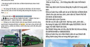 Chở miễn phí sinh viên TP HCM về quê Bình Định tránh dịch Corona