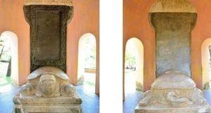 Bia 'Ngự kiến Thiên Mụ Tự', bộ chóp tháp Champa Linh Thái được công nhận bảo vật quốc gia