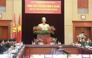 Thường trực Ủy ban QP&AN làm việc về Dự án Luật Biên phòng Việt Nam
