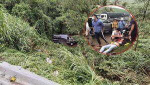 Xe limousine rơi xuống đèo, 8 hành khách may mắn thoát chết