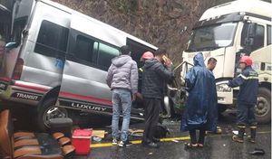 Xác định nguyên nhân vụ tai nạn liên hoàn giữa 2 xe khách và xe đầu kéo