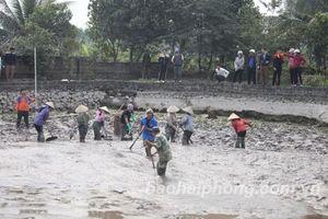 Hải Phòng: Khai quật khẩn cấp 13 cọc gỗ ở xã Lại Xuân