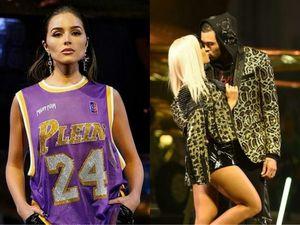 Hoa hậu Mỹ mặc áo tưởng nhớ Kobe, cặp người mẫu hôn nhau trên sàn diễn
