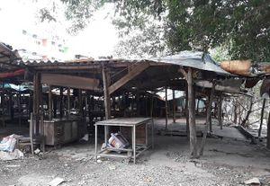 Nhếch nhác chợ tạm phường Bồ Đề