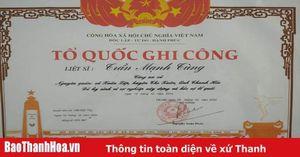 Công nhận liệt sỹ cho Phó trưởng Công an xã Xuân Lập, huyện Thọ Xuân hy sinh khi làm nhiệm vụ