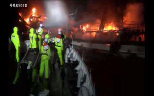 Vụ cháy tàu cá trên biển Hàn Quốc có 2 lao động Hà Tĩnh bị mất tích