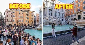 Loạt ảnh Before - After tại các điểm du lịch nổi tiếng ở châu Âu cho thấy sự ảnh hưởng nặng nề của dịch Covid-19