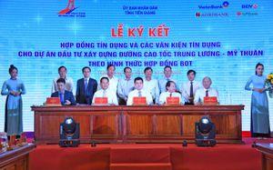 VietinBank và các đồng tài trợ giải ngân món vay đầu tiên vốn tín dụng dự án Trung Lương - Mỹ Thuận