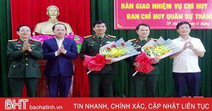 Trung tá Nguyễn Tiến Anh làm Chỉ huy trưởng Ban CHQS thành phố Hà Tĩnh