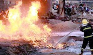 Xe tải tông vào đống bình gas, 15 người chết